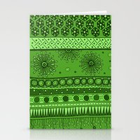 Yzor Pattern 007 Green Stationery Cards