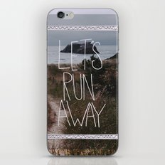 Let's Run Away: Cannon Beach, Oregon iPhone & iPod Skin