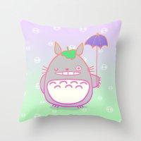 TotoroFan Art  Throw Pillow