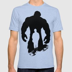 Hulk-Bruce Banner Mens Fitted Tee Tri-Blue SMALL