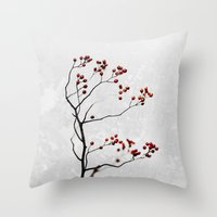 Abstract Flowers 6 Throw Pillow