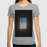 A Window to another world Womens Fitted Tee Athletic Grey SMALL