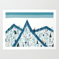 Gangster Outing, National Park Art Print
