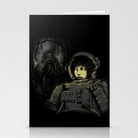 Space Horror Stationery Cards