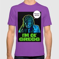 Old Gregg Mens Fitted Tee Ultraviolet SMALL