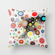 Whimsical Nursery Happy Circles Throw Pillow