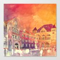 street in Poznan part 2 Canvas Print