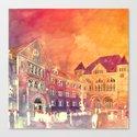 street in Poznan part 2 Canvas Print
