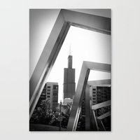 Sears Tower Sculpture Ch… Canvas Print