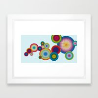 Circles #1 Framed Art Print