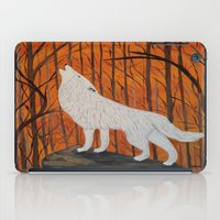 white wolf in the sunset iPad Case
