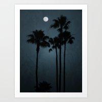 Coastal Moon Art Print