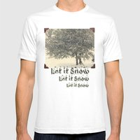 Live Oak In The Snow Mens Fitted Tee White SMALL