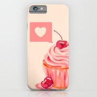 Cherry Heart Cupcake iPhone 6 Slim Case