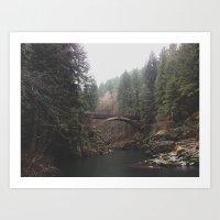 Bridge at Moulton Falls, WA Art Print