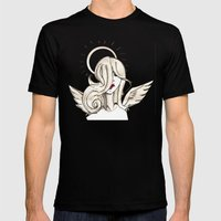 Angel Mens Fitted Tee Black SMALL