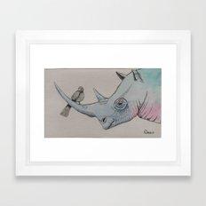 a friend in need Framed Art Print