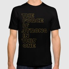 Use the Force! Mens Fitted Tee SMALL Black