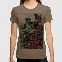 CartoonMix Womens Fitted Tee Tri-Coffee SMALL