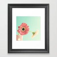 Soft Pink Flowers On Min… Framed Art Print