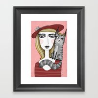 MOM LOVER Framed Art Print
