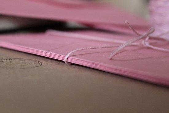 Pink Envelopes Art Print