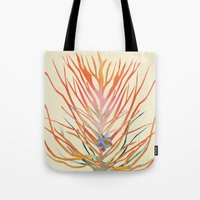 Tote Bag featuring Blue Fish by Suburban Bird Designs