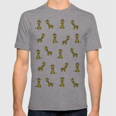 Giraffe Pattern Mens Fitted Tee Athletic Grey SMALL