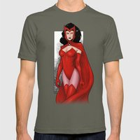 Scarlet Witch Mens Fitted Tee Lieutenant SMALL