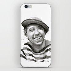 Yuriy Nikulin Portrait Watercolor   Юрий Никулин портрет iPhone & iPod Skin