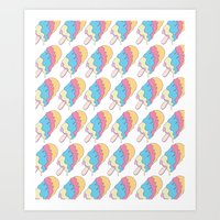 Popsickle Pattern Art Print