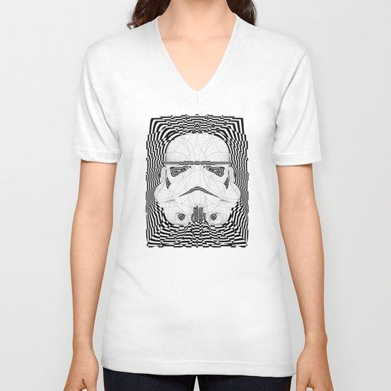 Storm and radiation V-neck T-shirt