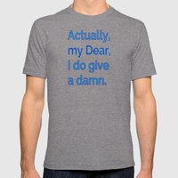 Actually, My Dear Mens Fitted Tee Tri-Grey SMALL