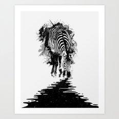 Stripe Charging Art Print