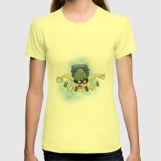Done! Scratched Off My Bucket List Womens Fitted Tee Lemon SMALL