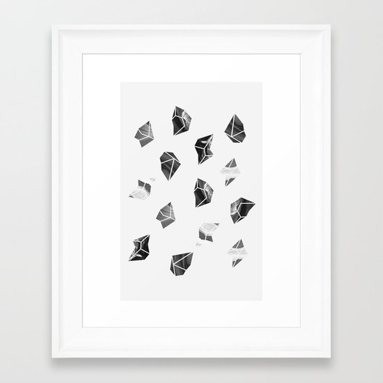 Marble Fragments Framed Art Print