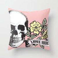 Love Hurts Throw Pillow