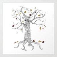 Seasons Tree Art Print