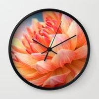 Dahlia Glow Macro Wall Clock