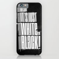 iPhone & iPod Case featuring White on black ! by Naniii
