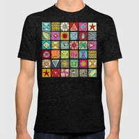 sketchy squares Mens Fitted Tee Tri-Black SMALL
