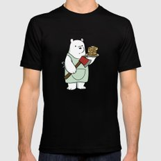 Ice Bear likes pancakes Mens Fitted Tee Black SMALL