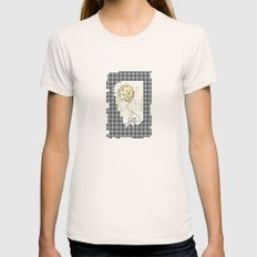 joy Womens Fitted Tee Natural SMALL