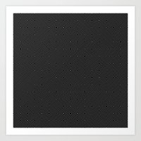 Black And White Random D… Art Print
