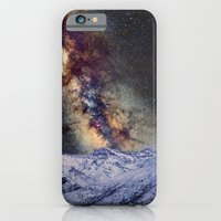 iPhone Cases featuring The star Antares, Scorpius and Sagitariuss over the hight mountains. The milky way. by Guido Montañés