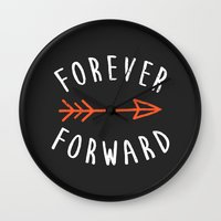 Forever Forward Wall Clock