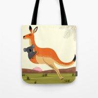 The Kangaroo And The Koa… Tote Bag