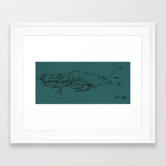 FW - 190 (Colour) Framed Art Print