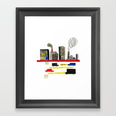 Small City Stories II Framed Art Print