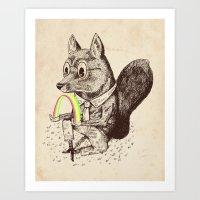 Strange Fox Art Print